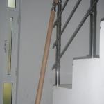 Κάγκελα Κλιμακοστασίου με ξύλινη κουπαστή